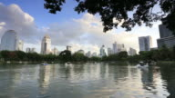 View of Lumpini Park and Bangkok Cityscape from Lumpini Park video