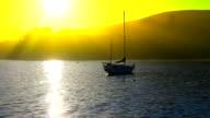 View of luxury yachts in Akaroa Harbour, Akaroa video