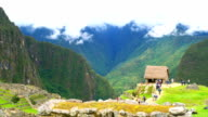 View of Machu Picchu and the mountain video