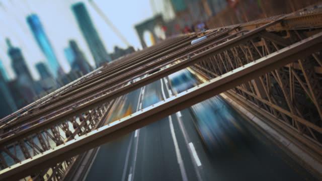 View of Manhattan from Brooklyn Bridge video