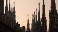 View of Milan city, Italy with Duomo and architecture video