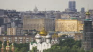View of Moscow churches video