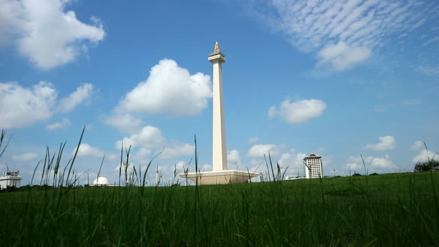 View of National Monument (Monas) in Jakarta video
