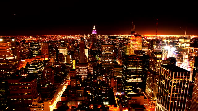 View of New York City at night video
