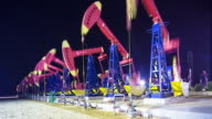 view of oilfield with pump units video