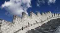 View of one of the most scenic sections of the Great Wall of China, north of Beijing video