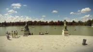 View of Parque del Buen Retiro in Madrid, Spain video
