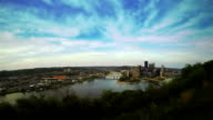 View of Pittsburgh from the hill video