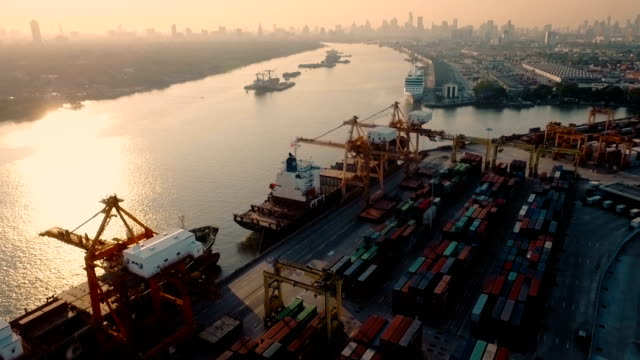 View of Port terminal video