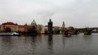 View of Prague from the Vltava River, Czech Republic video