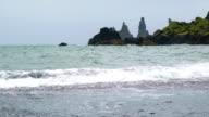 View of Reynisdrangar Rock Formations video