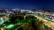 View of river Seine from the Eiffel tower night timelapse. Paris, France, Europe video