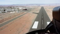 View of runway from helicopter cockpit video