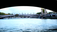 View of Seine River in Paris video