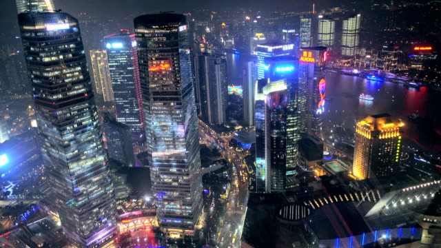 view of Shanghai's Lujiazui financial space, China. Lujiazui is One of China's most prosperous areas. video