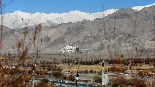 View of Shey Palace, Leh, Ladakh, India video