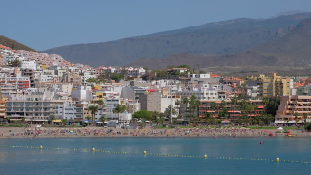 View of skyline Los Cristianos on Tenerife South / Canary Islands - Spain video