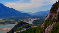 View of Squamish and The Chief from Gondola, British Columbia video