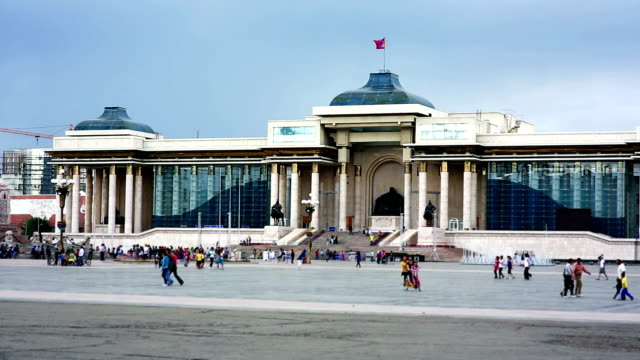 View of Sukhbaatar Square video