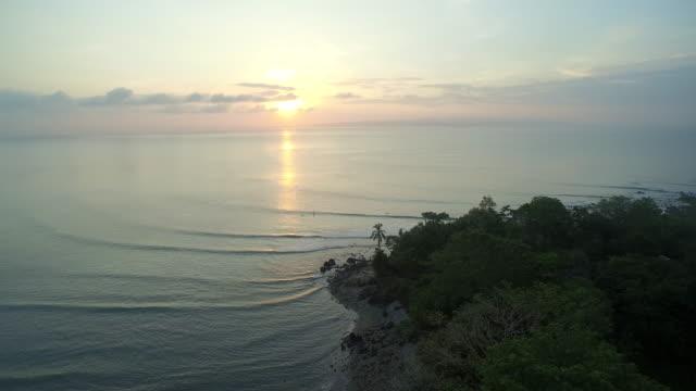 View of sunset on Puerto Jiménez Beaches In Costa Rica video