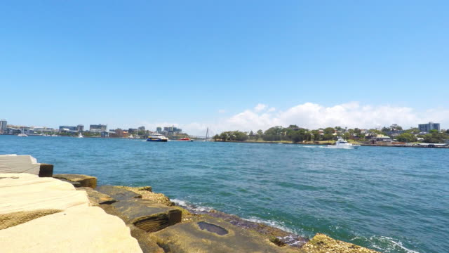 View of Sydney Harbour Bays From the Barangaroo Reserve video