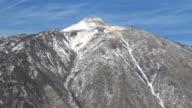 View of Teide mountain of Tenerife Island video