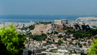 View of the Ancient Parthenon on Acropolis Hill in Greece video