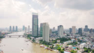 View of the business area in Bangkok, Thailand video