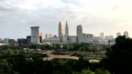 View of the city center of Cleveland video