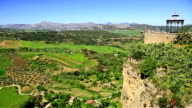 View of the countryside from Ronda Spain video