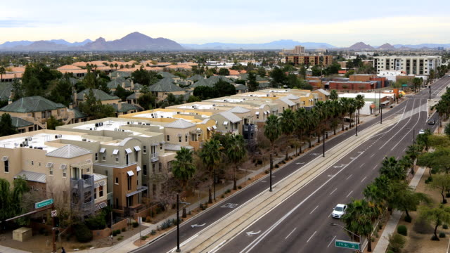 View of the downtown in Phoenix, Arizona video