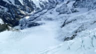 View of the glacier at Jungfrau in Switzerland video