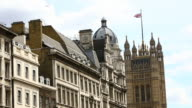 View of the Houses of Parliament in central London video