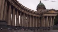 View of the Kazan Cathedral, Nevsky Prospekt video