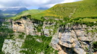 View of the massif of Monte Perdido and Anisclo Valley in Ordesa National Park,Pyrenees, Huesca, Aragon, Spain video