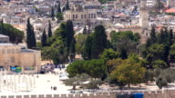 view of the old city andal-aqsa mosque timelapse from the Mount of Olives., Jerusalem, Holy Land video