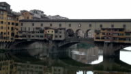 HD: View of the Ponte Vecchio and the Arno River video