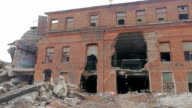 view of the ruined facade video