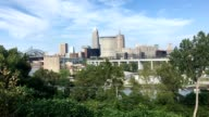 View of the skyline of Cleveland, Ohio video