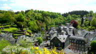 View of the small German town Monschau. video