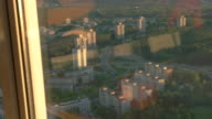 View of town from window. video