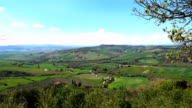 view of tuscanian landscapes from the Pienza video