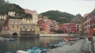View of Vernazza village in Cinque Terre. video