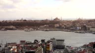View on Blue Mosque, Hagia Sophia and Topkapı in Istanbul video