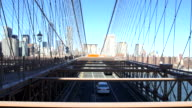View on Brooklyn Bridge in New York video