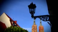 View on Church and religious statue video