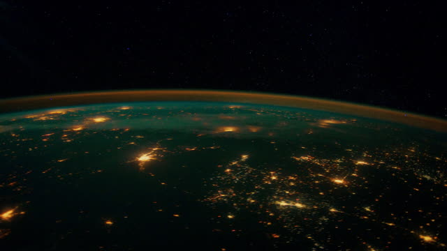 View on Earth from space 4K video