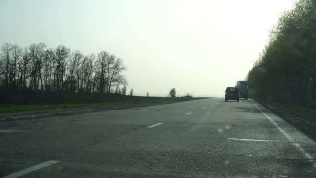 view on high speed on a road video