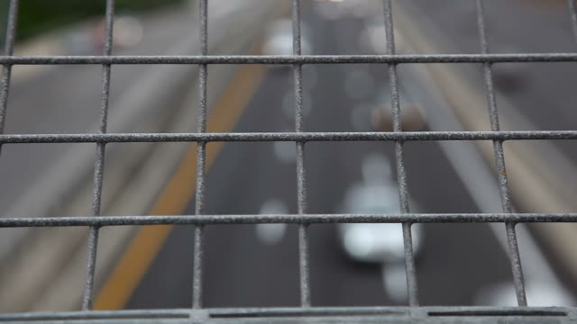 View on Highway from the bridge video