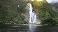 View on Lady Bowen Falls from boat video